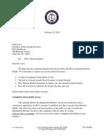 Stein Letter to HCA 02252020
