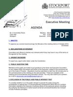 Stockport Council Executive - 1 November 2010
