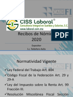 CURSO DE NOMINA SUBSIDIO AL EMPLEO EJERCICIO 2020