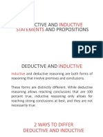 DEDUCTIVE AND INDUCTIVE AND STATEMENTS AND PROPOSITIONS