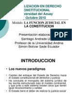 LA FUNCION JUDICIAL EN LA CONSTITUCION