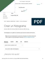 Crear un histograma - Soporte de Office