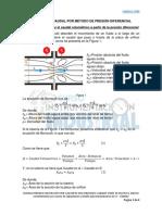 Formula Para Calcular El Caudal Volumetrico a Partir de La Presion Diferencial