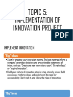 IMPLEMENTATION OF INNOVATION PROJECT
