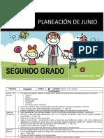 Planeacion Junio 2do Grado 2018 2019