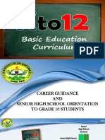 SHS ORIENTATION AND CAREER GUIDANCE