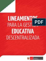 Lineamientos para la gestión educativa descentralizada