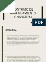 Contrato de arrendamiento financiero mexicano