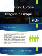 3.- Europe and Religion