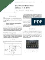 Amplificacion con transistores