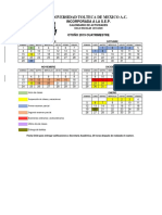 CALENDARIO DE ACTIVIDADES OTOÑO 2019 (cuatrimestre)