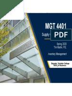 4401 - Inventory Management