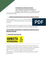 9 Organizaciones que Defienden los Derechos Humanos