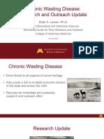 University of Minnesota Dr. Larsen Presentation on CWD research