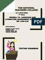 Testing Grammar.Ramos.Cienelo.Tabor.Lucas