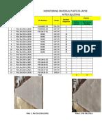 Monitoring Matrial Plat 20 Proses Blasting
