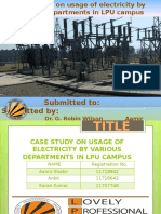 Power Consuption and distribution in LPU