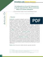 Modelo de estimación en el uso de bioinsumos