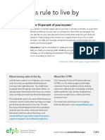 CFPB Worksheet My Savings Rule to Live By
