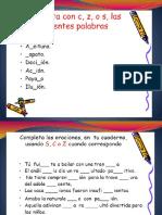 Actividad del Uso de la S, C y Z