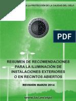 RESUMEN_DE_RECOMENDACIONES_EN ILUMINACION 2014
