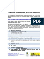 formato presentación proyectos de investigación Versión Final