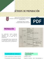 MÉTODOS DE PREPARACIÓN CATALIZADORES 1
