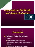 Ergonomics in the Textile Industry