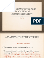 India- Structure and Educational Administration