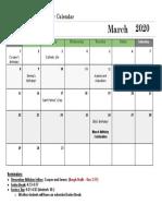 march calendar -2