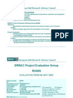 Errac Project Evaluation Rosin Traincom Euromain