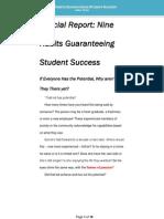 Special Report - Nine Habits Guaranteeing Student Success
