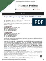 Analysis of Management Code 17 Paper __ Dec 2019 – Human Peritus