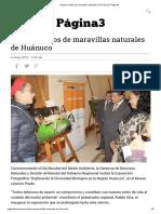 Exponen fotos de maravillas naturales de Huánuco