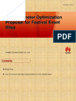 LTE Parameters OPtimization Recommendations for Special Events
