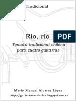 Tradicional. Rio,rio para cuatro guitarras