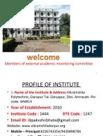 External Academic Monitoring Comitee Vikramshila Polytechnic Darapur-dv Shirbhate