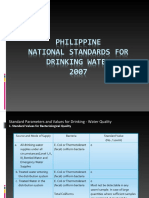 Phil. National Standards for Drinking Water Quality