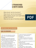 how to franchising takes place
