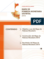 Mapa de la pobreza monetaria en el Perú
