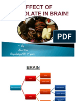effect of chocolate on brain..