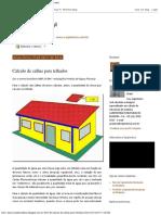 ESTRUTURAS DE MADEIRA_ Cálculo de calhas para telhados
