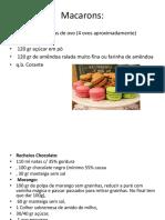 FRANÇA - Macarons e Eclairs