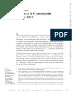 reformas constitucionales entre 1989 y 2013