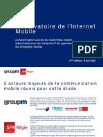 Observatoire Internet Mobile - 2010