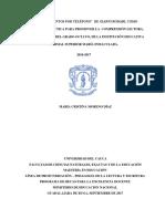 """EL LIBRO """"CUENTOS POR TELÉFONO"""" DE GIANNI RODARI, COMO ESTRATEGIA DIDÁCTICA PARA PROMOVER LA COMPRENSIÓN LECTORA, CON ESTUDIANTES DEL GRADO OCTAVO, DE LA INSTITUCIÓN EDUCATIVA NORMAL SUP.pdf"""