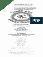 North Florida Sheet Metal Apprenticeship Program 2020