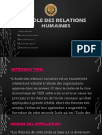 PROJET SO ECOLE DES RELATIONS HUMAINES