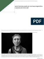 """Silvia Federici_ """"El Movimiento Feminista Puede Ser Una Fuerza Hegemónica Porque Pone El Foco en La Reproducción de La Vida"""""""