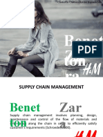 Zara, H&M and Benneton Supply Chain Management